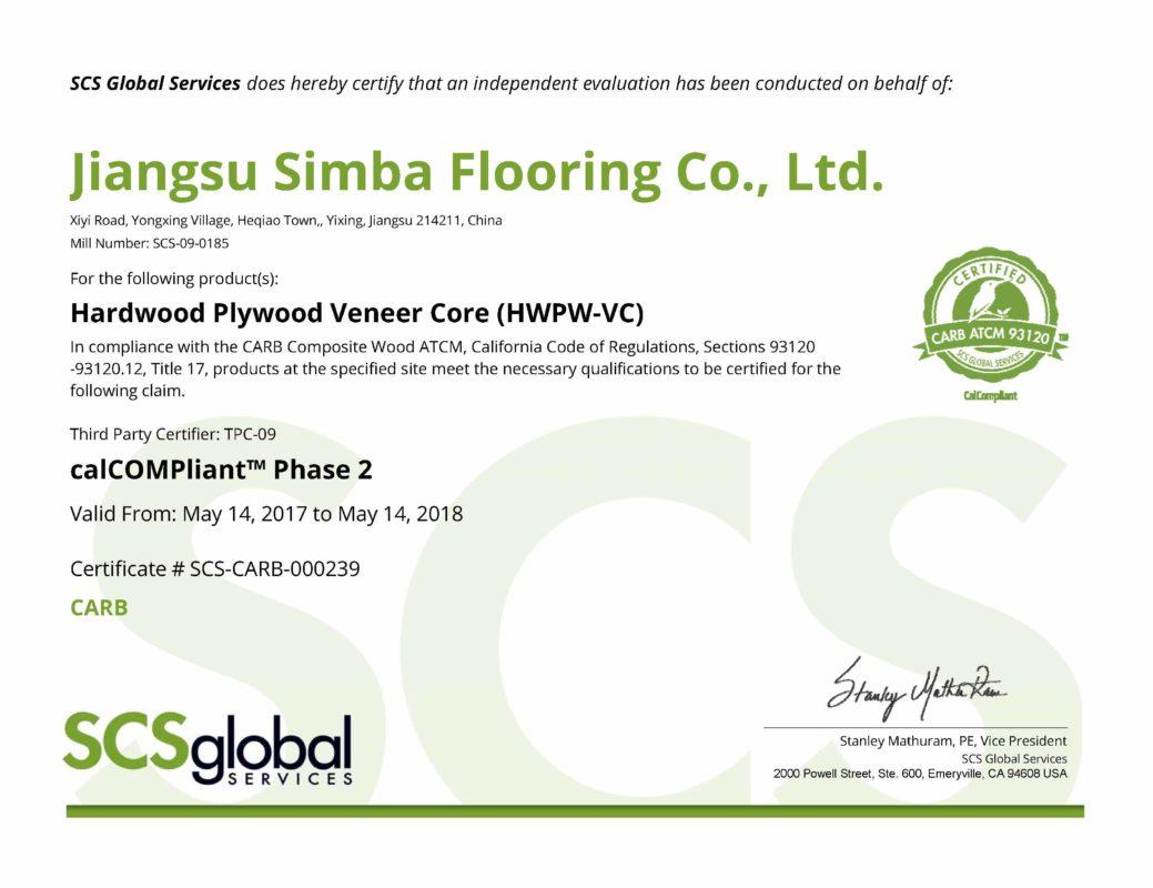 Floorscore – Simba Flooring Corp.