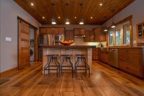 Rustic Wide Plank Hardwood Floor